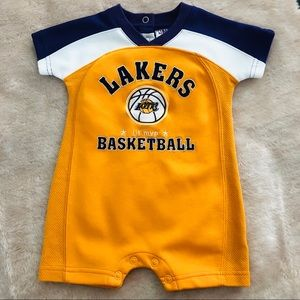 Baby Boy Lakers One Piece Outfit Size 6/9 Months